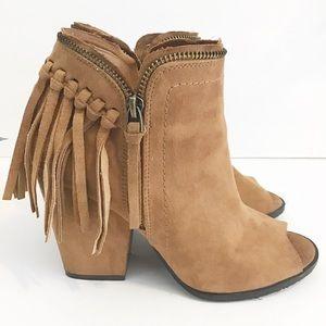 DOLCE VITA Tassel peep toe heels size 7.5